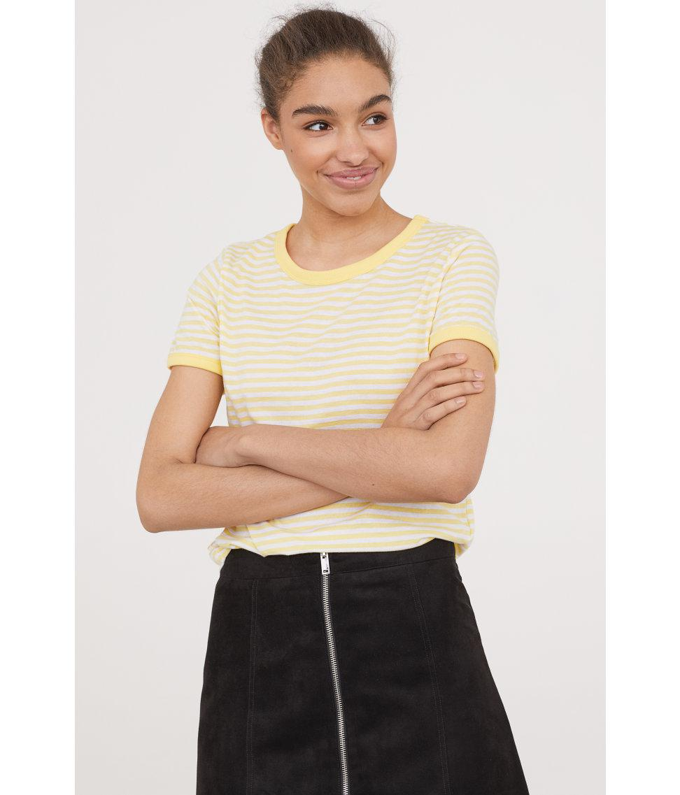 e99375cfcb82 Lyst - H M Short T-shirt