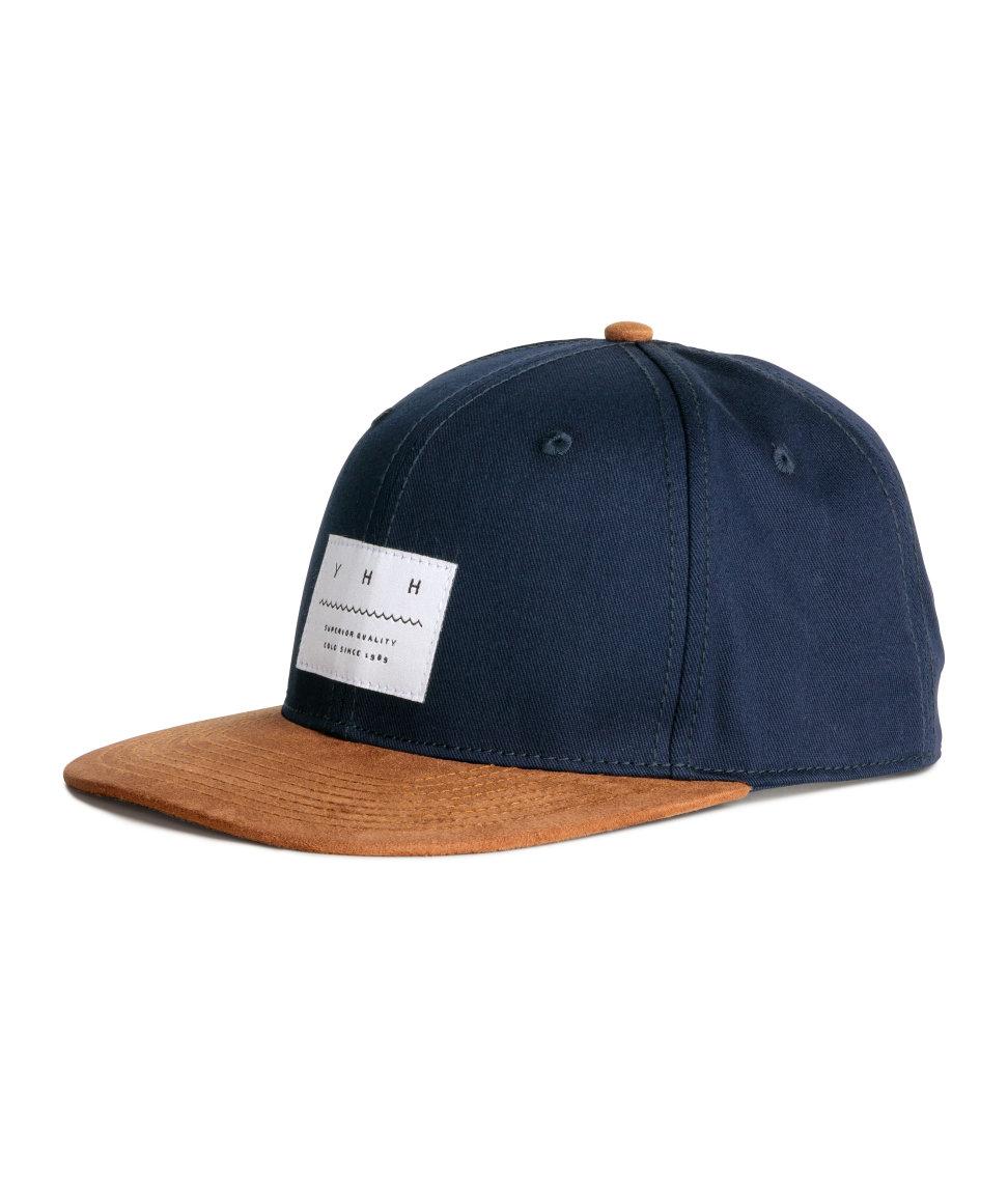 Lyst - H M Cap With Appliqué in Blue for Men a5382e88cb1