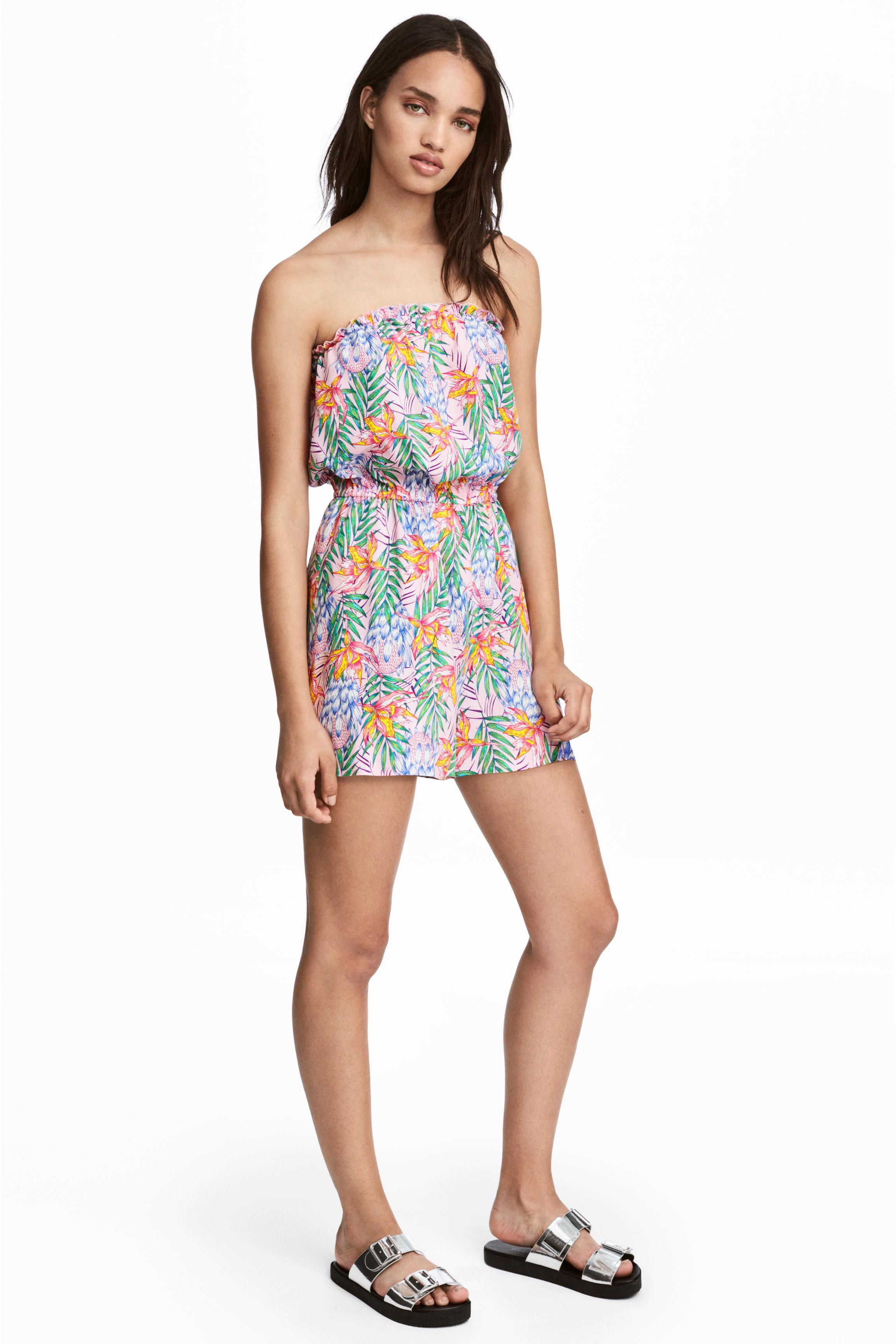 01ebe4538710 H M Strapless Playsuit - Lyst