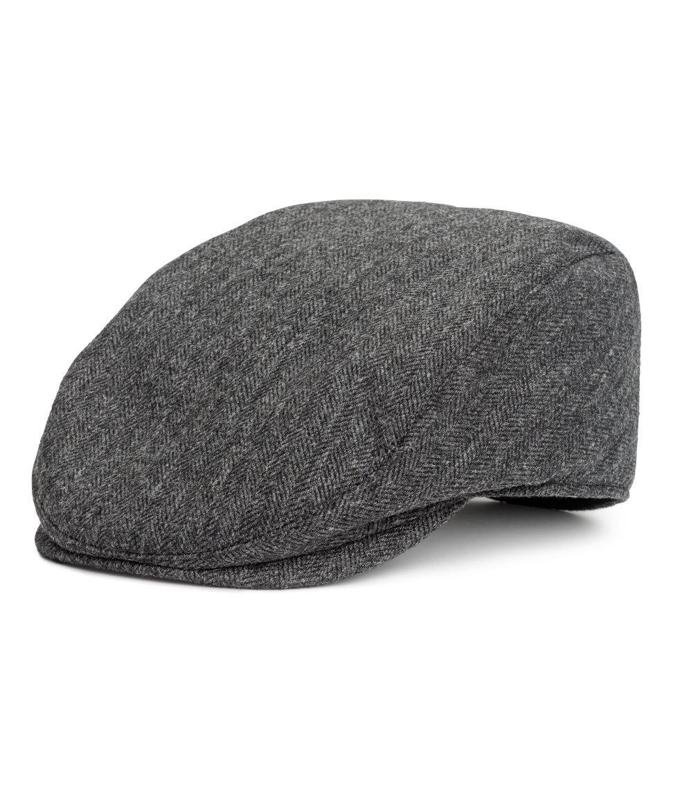 abfa07cfdf636 Lyst - H M Wool-blend Flat Cap in Gray for Men