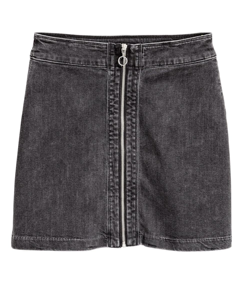 Hu0026m Denim Skirt in Gray   Lyst