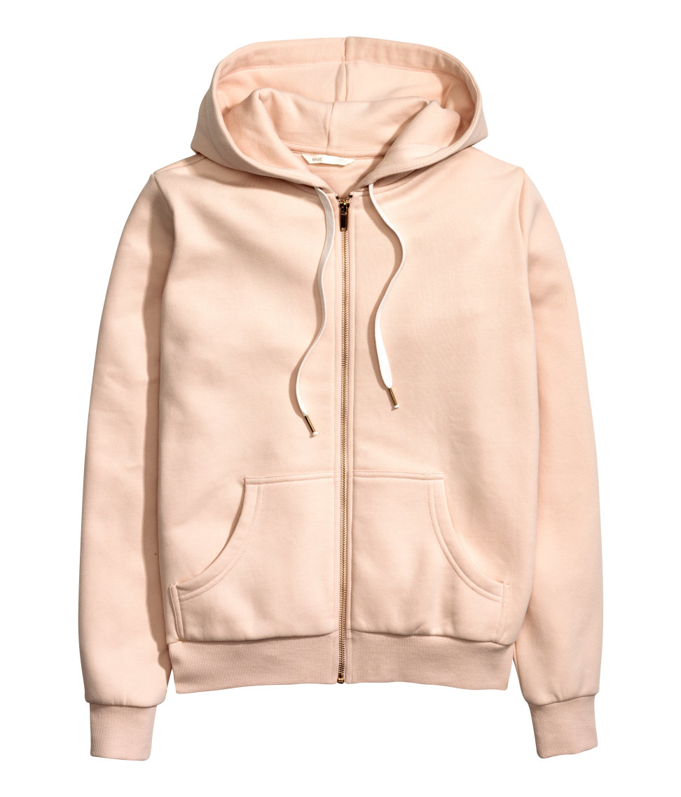 h m hooded jacket in pink lyst