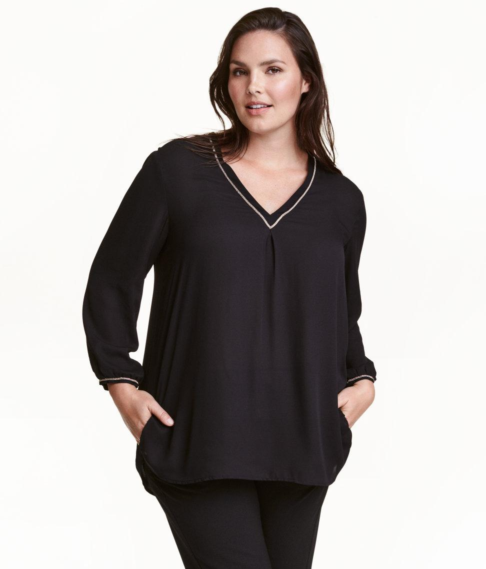 V Neck Blouse H&M 9