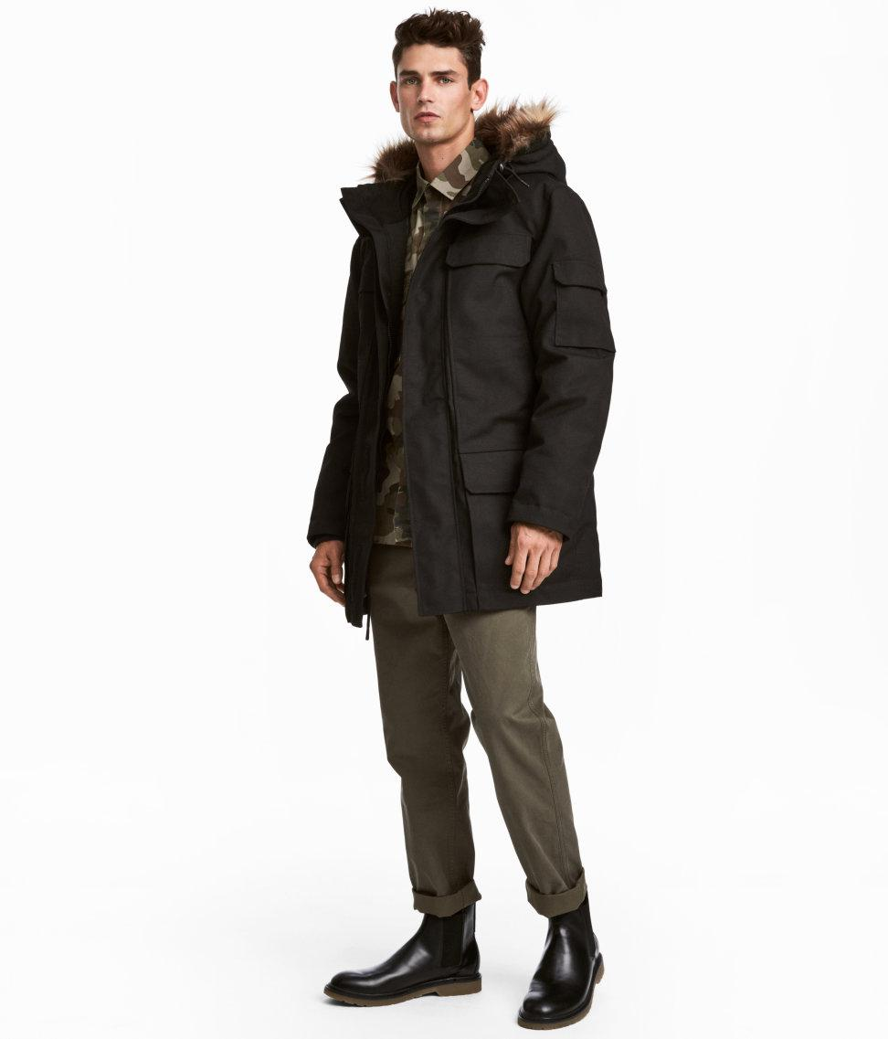 46b00203223bb Lyst - H M Warm-lined Parka in Black for Men