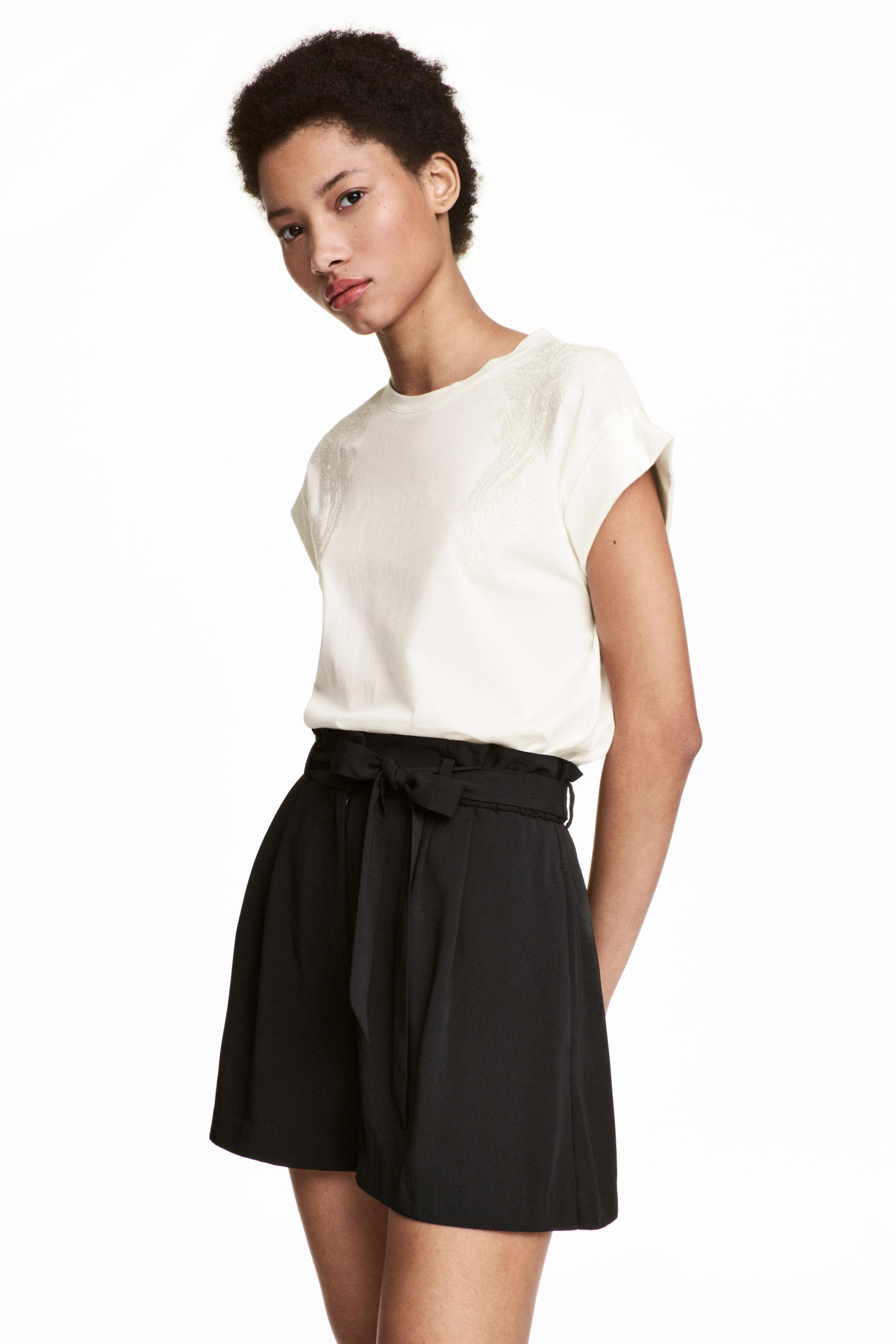H&M. Women's White Embroidered Top