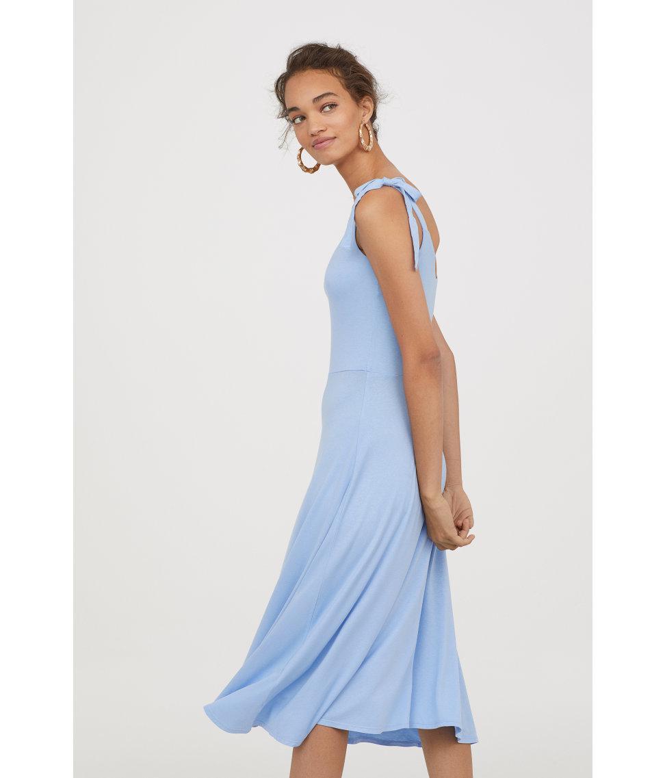 a507b2b8d2d82 Lyst - H M Sleeveless Jersey Dress in Blue