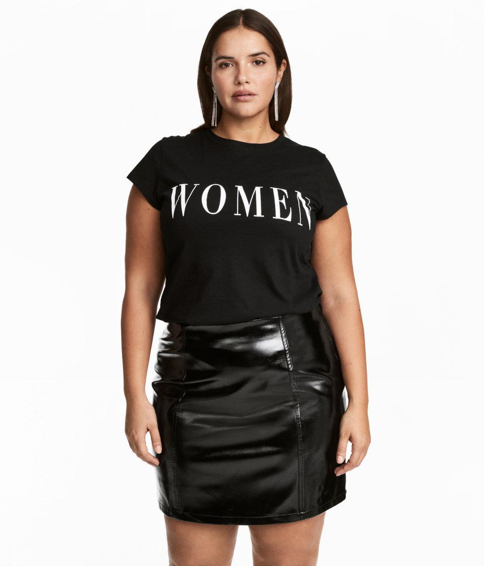 HM Womens Black Short Skirt