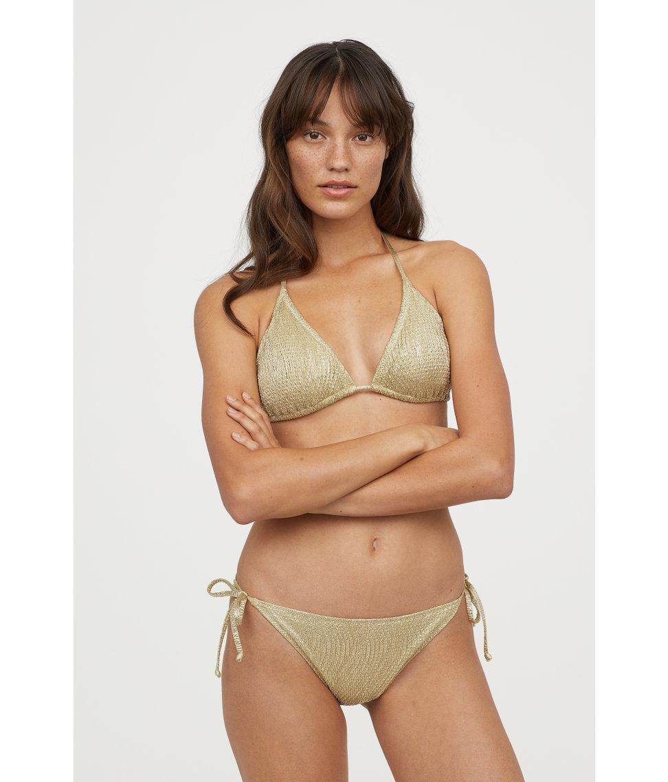 dd3ce60515564 Lyst - H M Glittery Tanga Bikini Bottoms