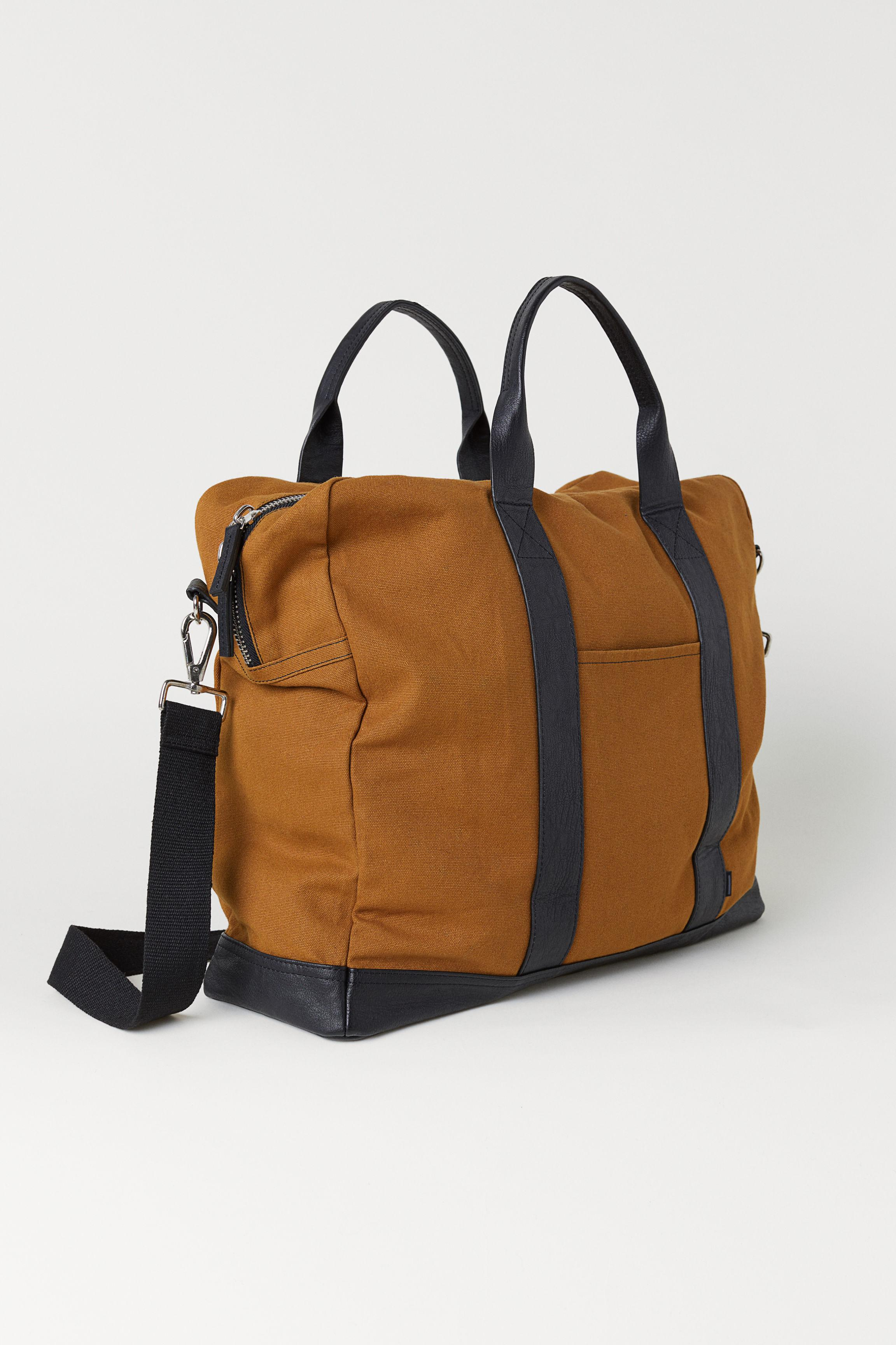 d9deccce02 H M Canvas Weekend Bag in Brown for Men - Lyst