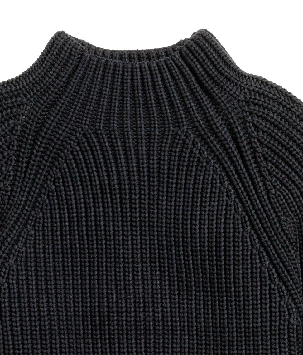 H&m Chunky-knit Jumper in Black for Men | Lyst