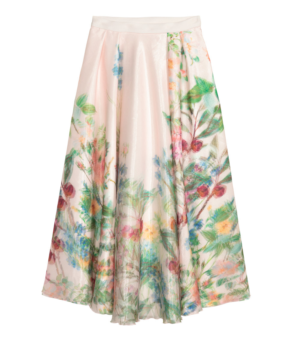 Not simple, H m floral skirt for the