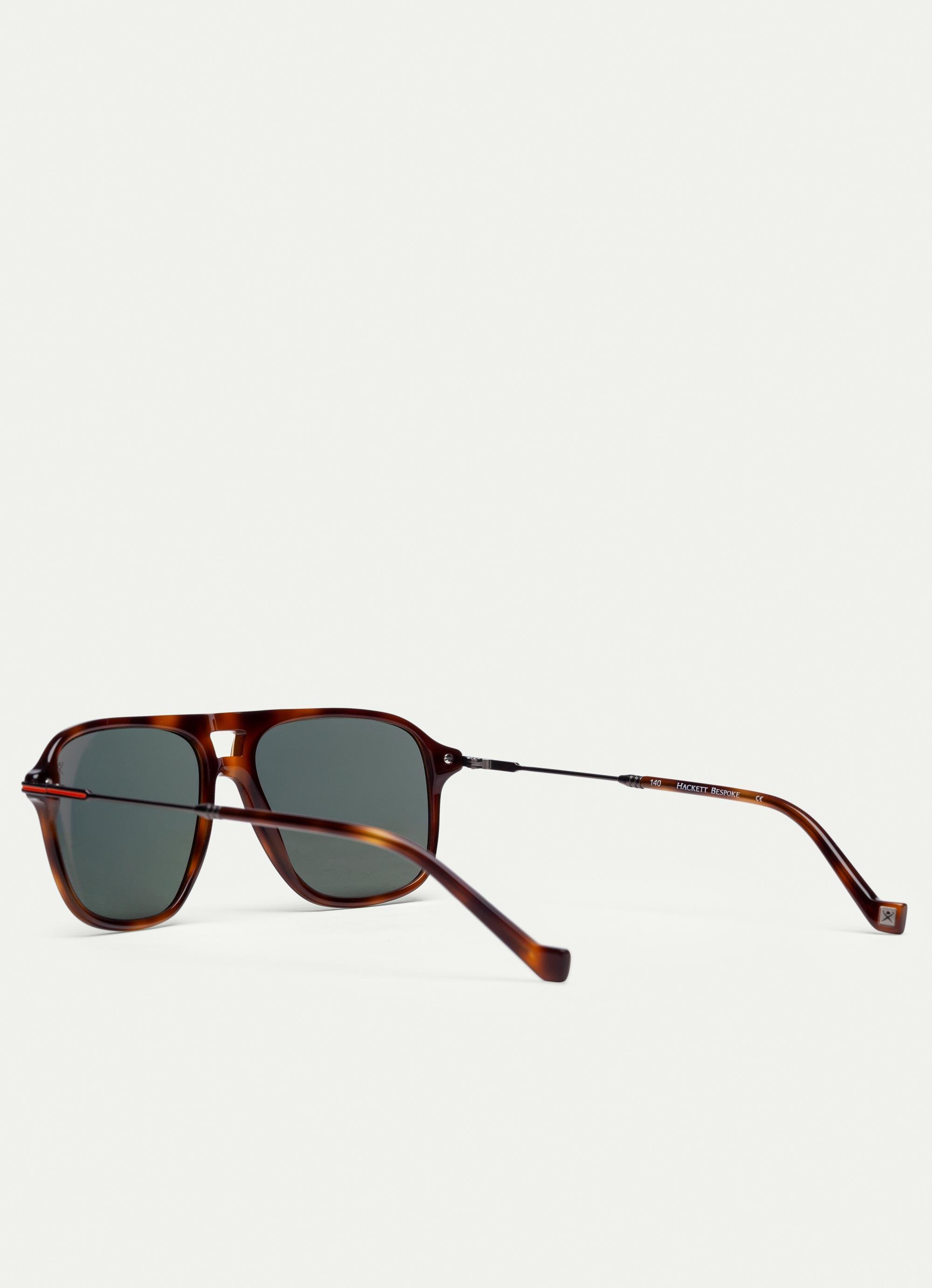 aa57b648a23 Hackett Pilot Titanium And Ultra-thin Acetate Sunglasses With ...