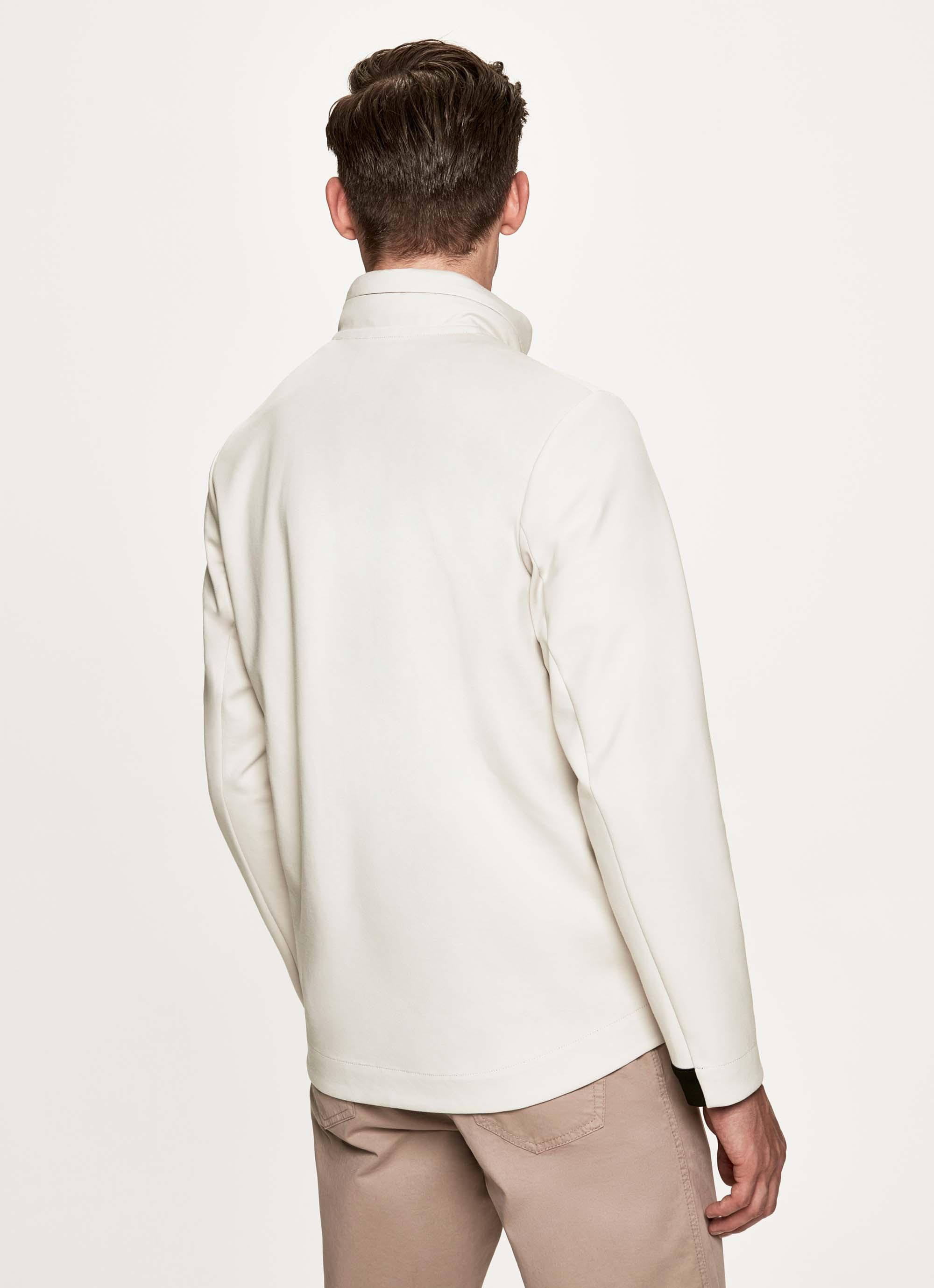 0d8791ac65931c Hackett Cotton-blend Bonded Jersey Zip Front Sweater in Natural for ...