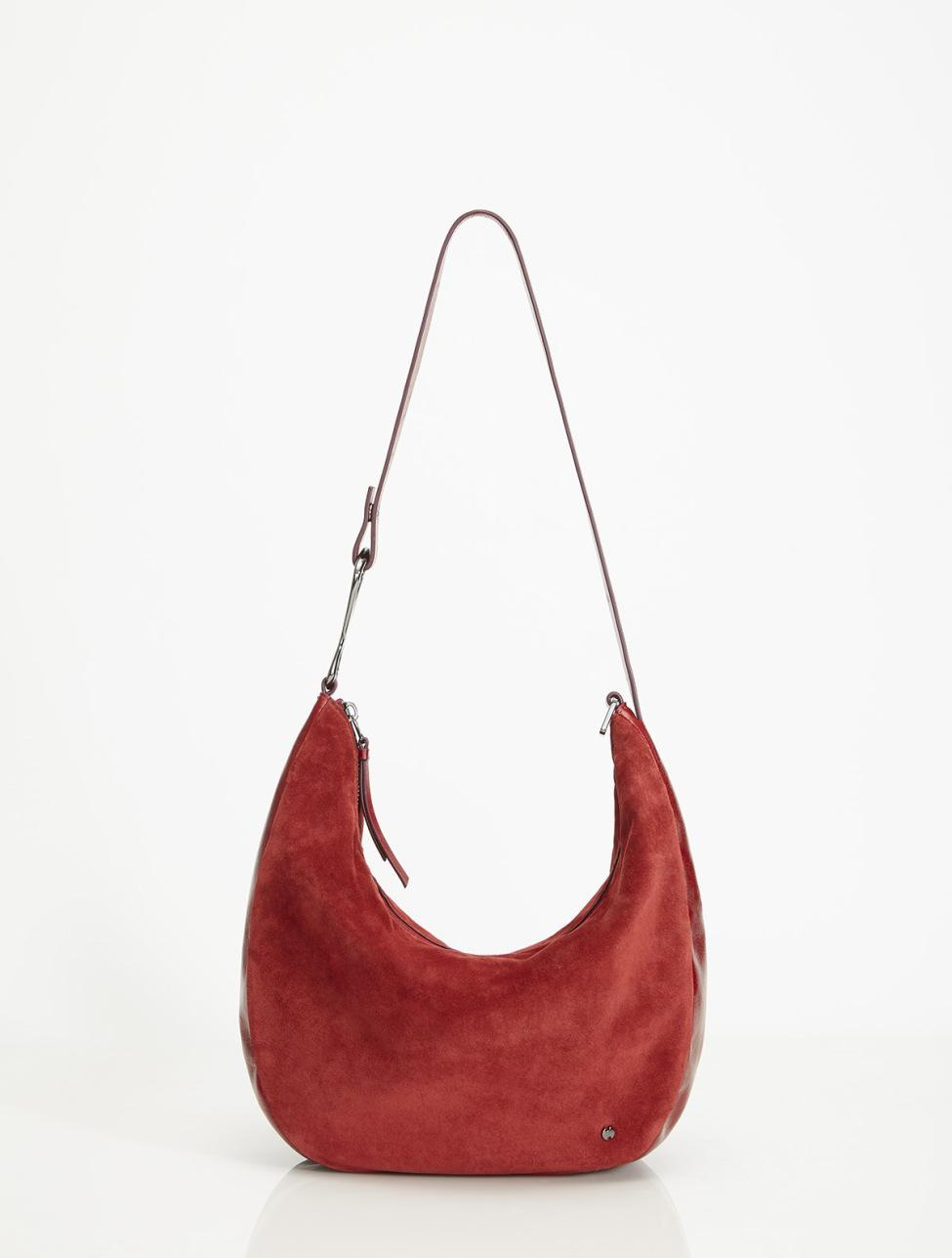 bfb8b7102e Halston Elsa Triple Convertible Shoulder in Red - Lyst