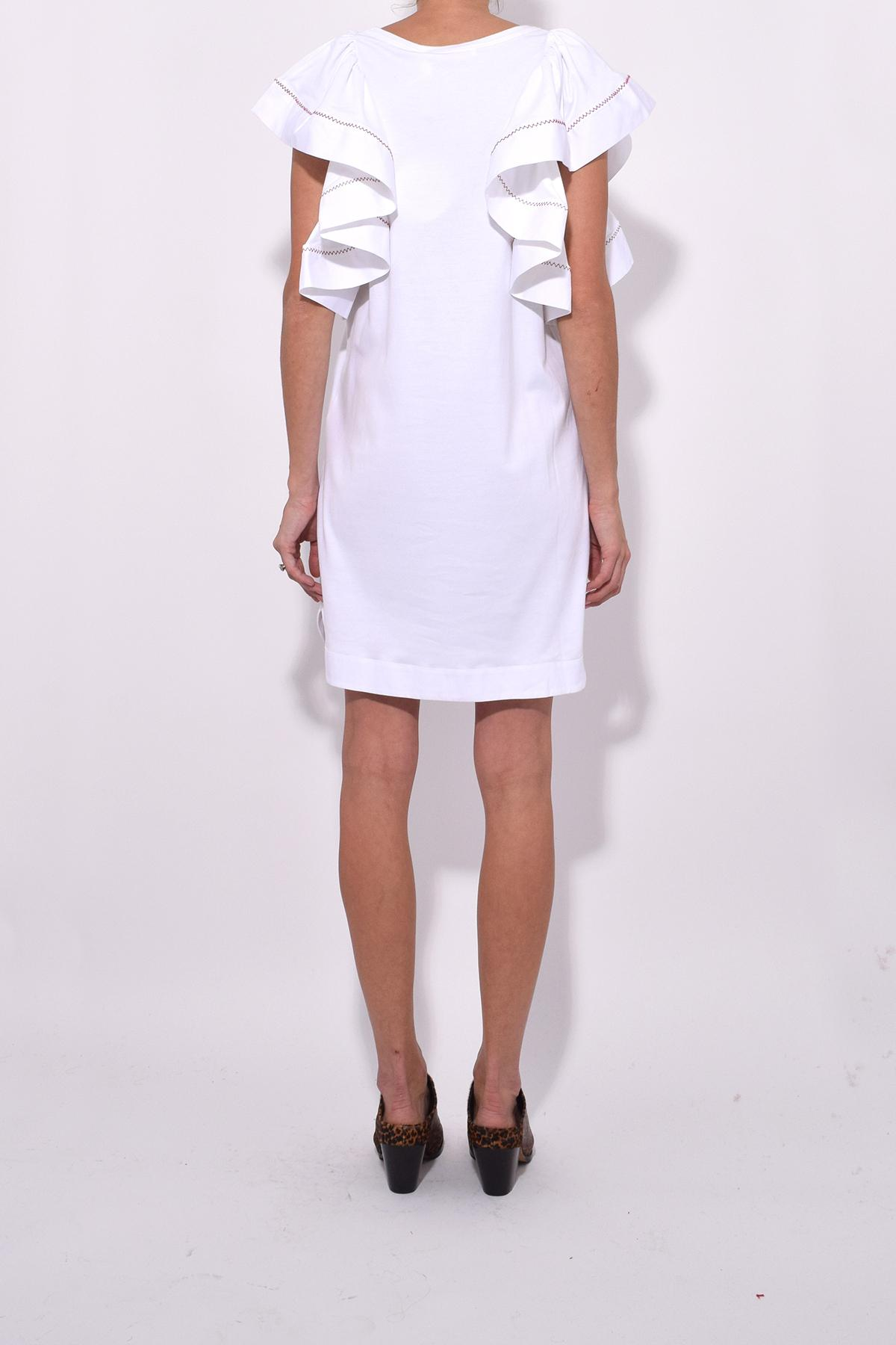 c663f959e52 Lyst - See By Chloé Flouncy Sleeve Dress In White Powder in White