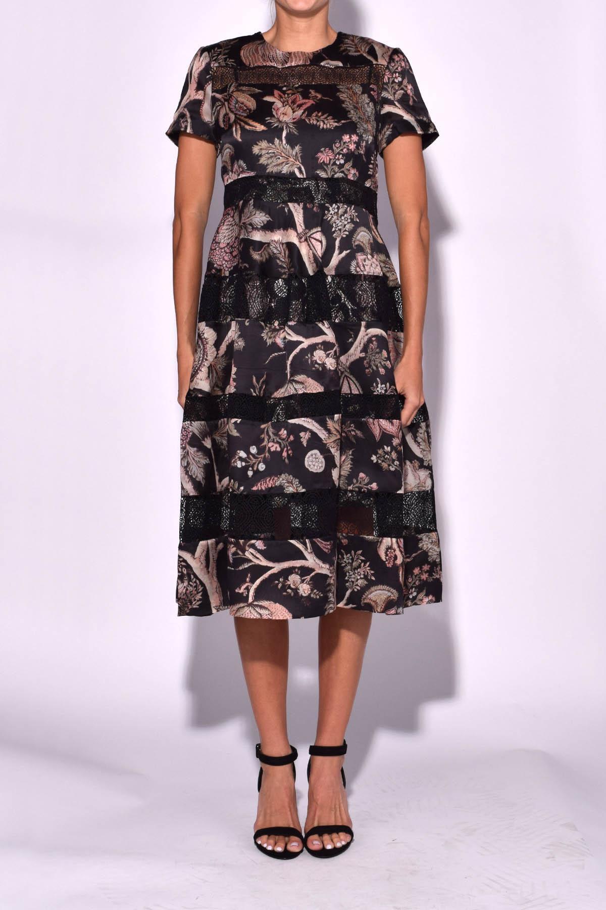 Zimmermann M Bel lyst zimmermann lavish bell midi dress in indienne floral in black