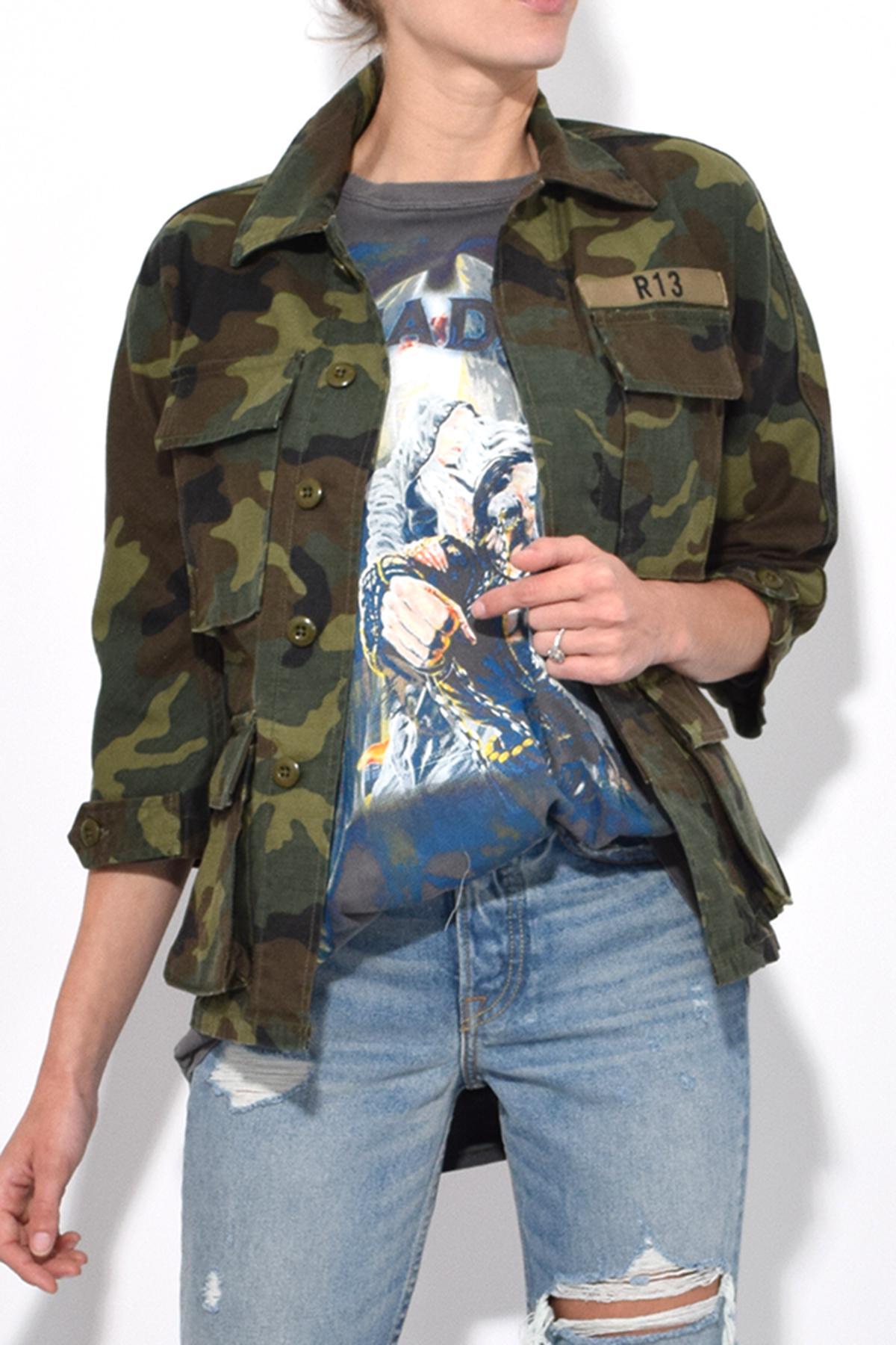 bccb0ac4e8b98 R13 Camo Shrunken Abu Jacket In Camo in Green for Men - Lyst