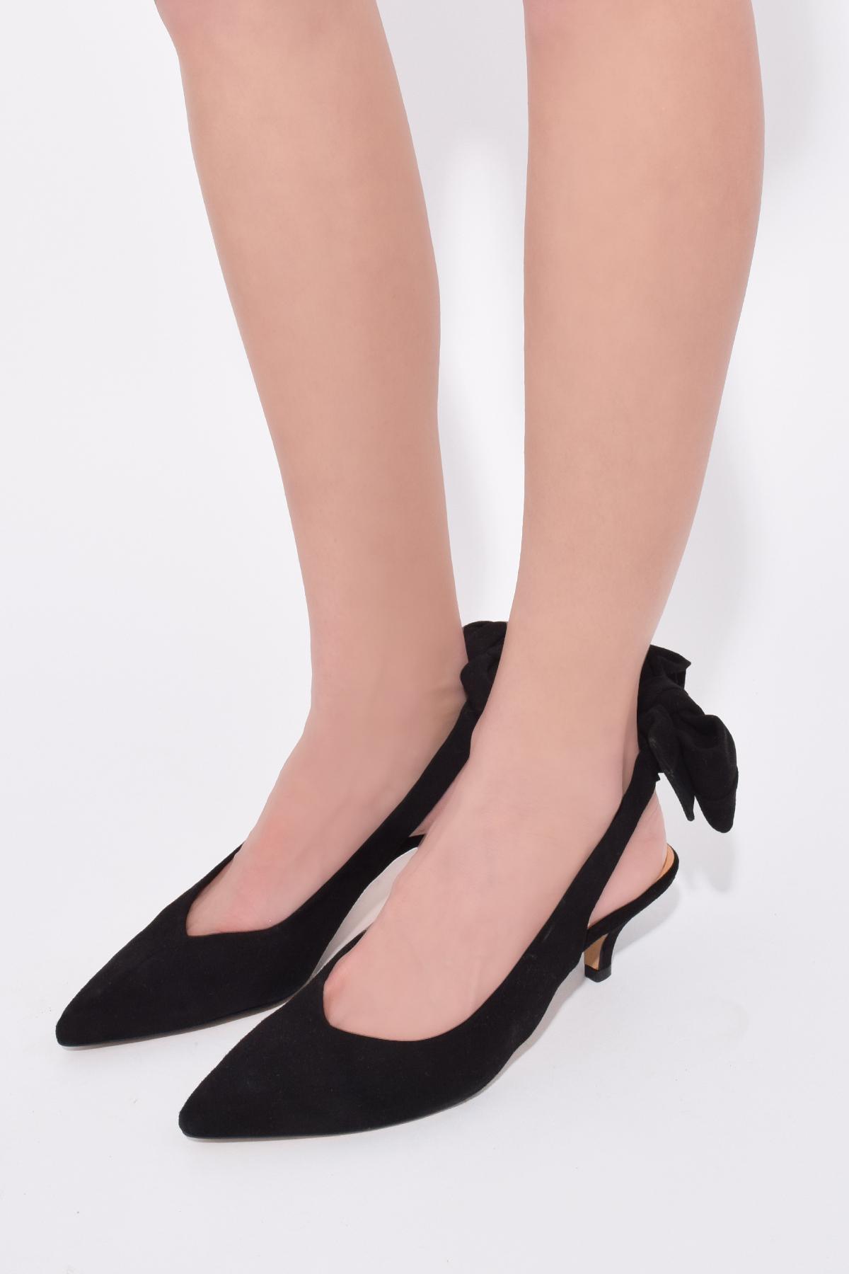 72a3886f4d5b Ganni - Bow Kitten Heel Pumps In Black - Lyst. View fullscreen