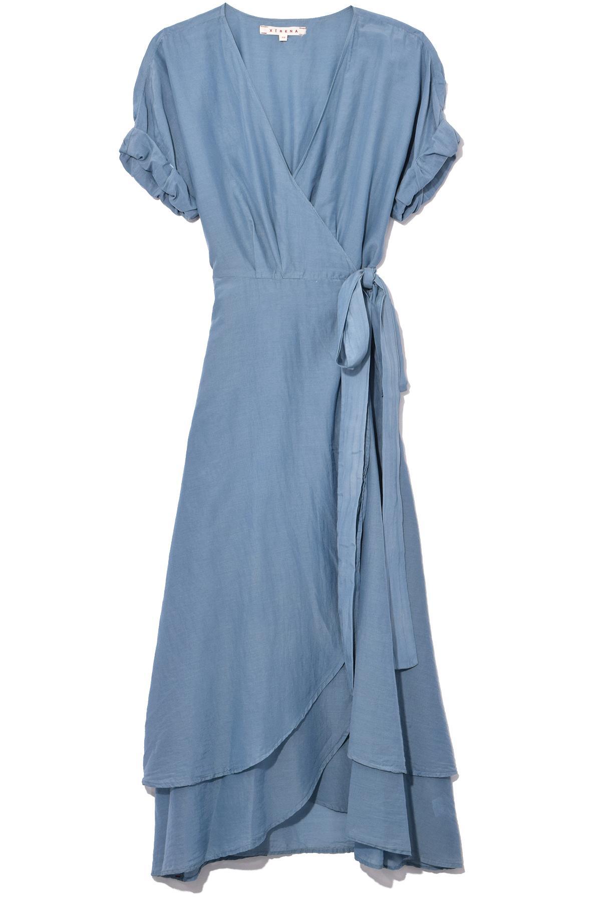 3ff93ca903c6fb Lyst - Xirena Wren Silk Cotton Dress In Blue Steel in Blue