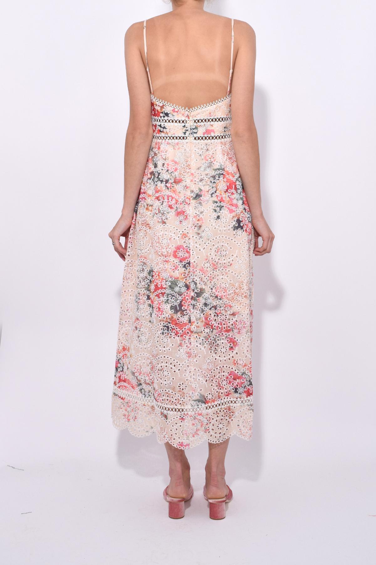 169ceedbbe7c6 Zimmermann Laelia Diamond Bralette Dress In Meadow Floral - Lyst