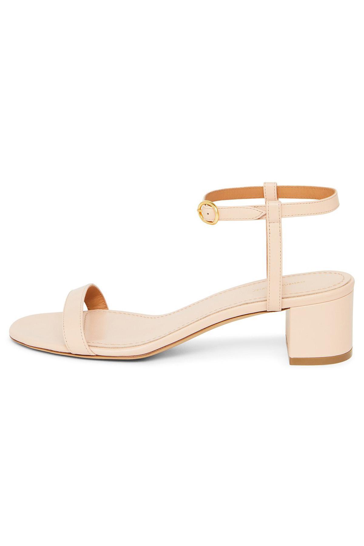 441fadf6c7c1 Lyst - Mansur Gavriel Lamb Ankle Strap Sandal - Rosa