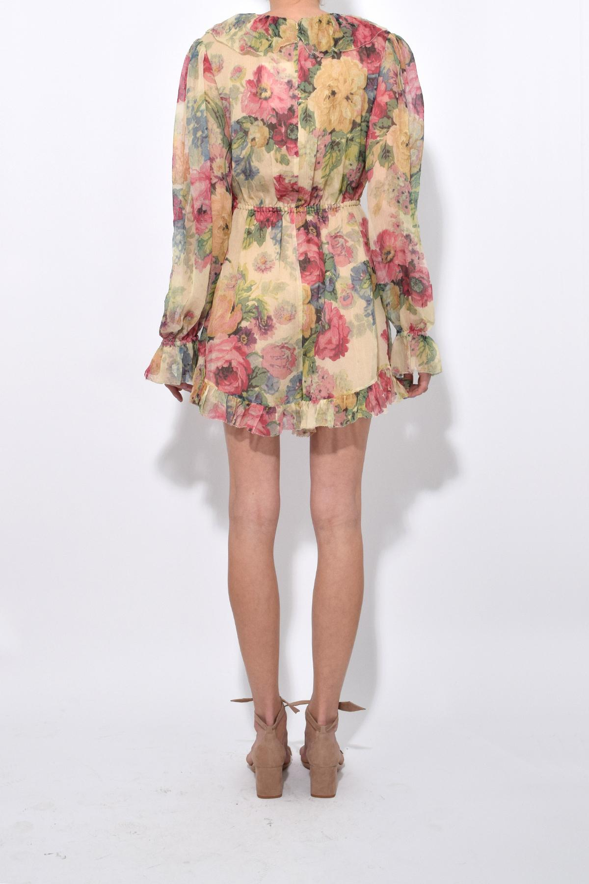 3503a1baf7 Zimmermann Melody Floating Playsuit In Taupe Floral - Lyst