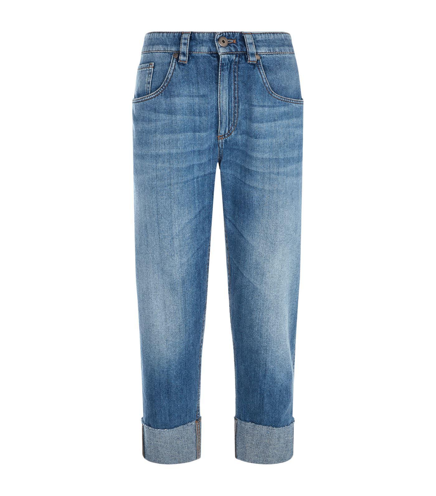 Cuffed cropped jeans Brunello Cucinelli XgVdxb5q1L