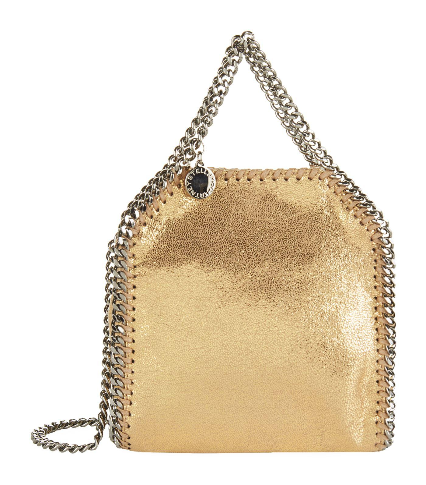 8221196af810 Lyst - Stella Mccartney Tiny Falabella Chamois Tote in Metallic
