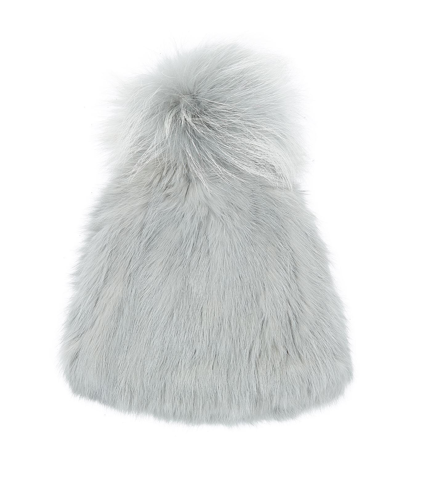 b3da9aca229 Lyst - Yves Salomon Rabbit Fur Bobble Hat in Green