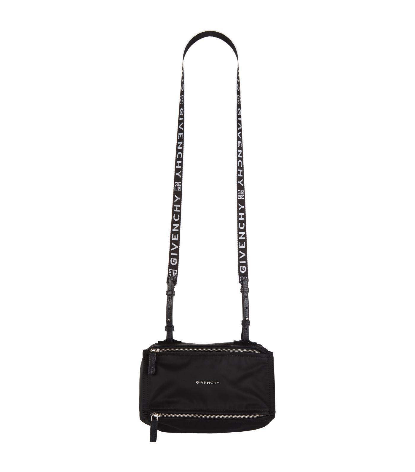 2ba63b4b4a Givenchy Mini Nylon Pandora Messenger Bag in Black - Lyst