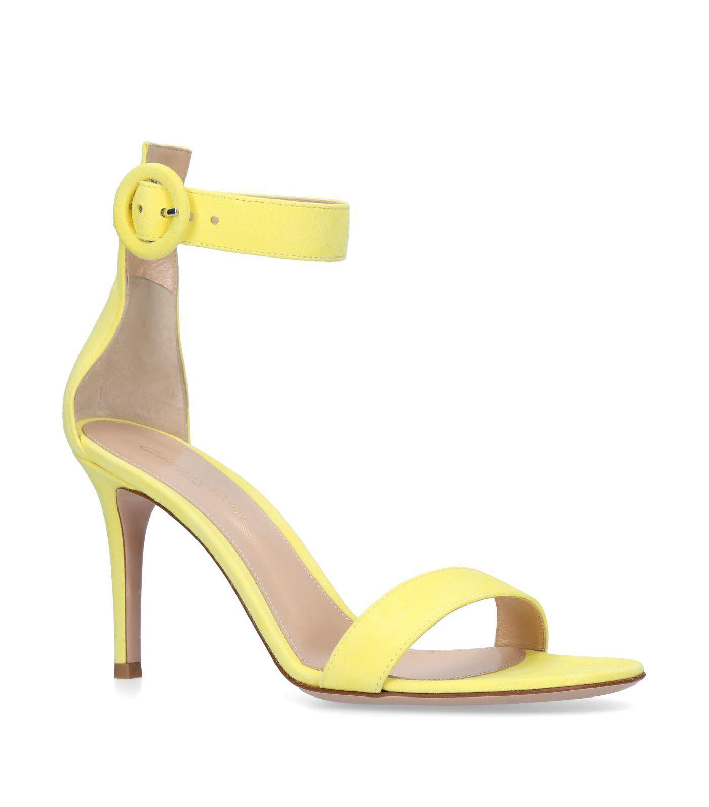 Portofino 85 Suede Sandals - Yellow Gianvito Rossi Cheap Sale How Much Sale Good Selling Cheap Sale Footlocker Finishline Inexpensive Free Shipping Pictures eFtBUOzOf
