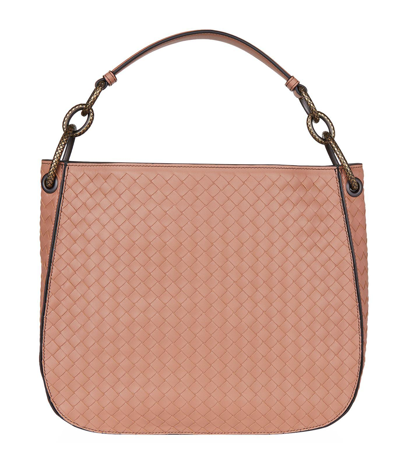 e62d26ed9230 Bottega Veneta Small Leather Intrecciato Loop Bag - Lyst