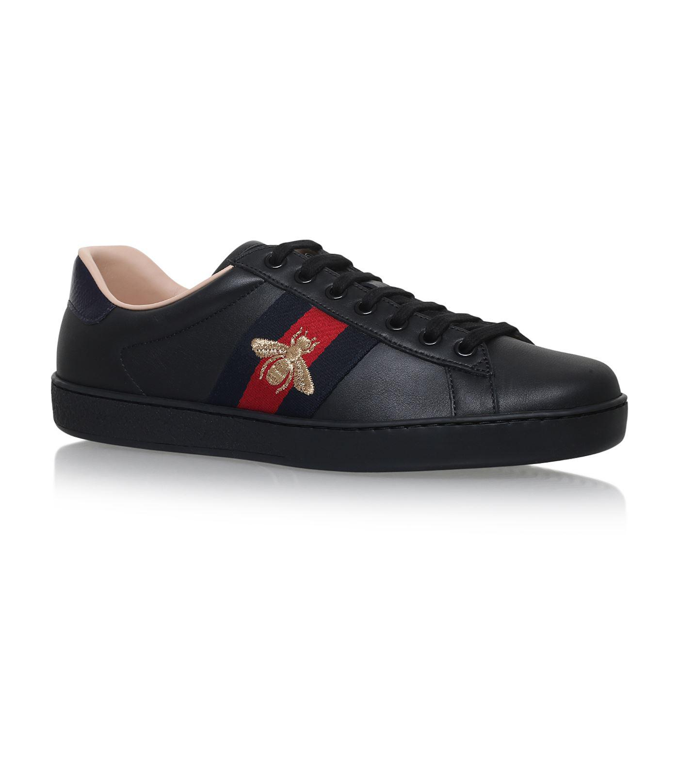 ffc4177ee04 Gucci - Black Ace Bee Sneakers for Men - Lyst. View fullscreen
