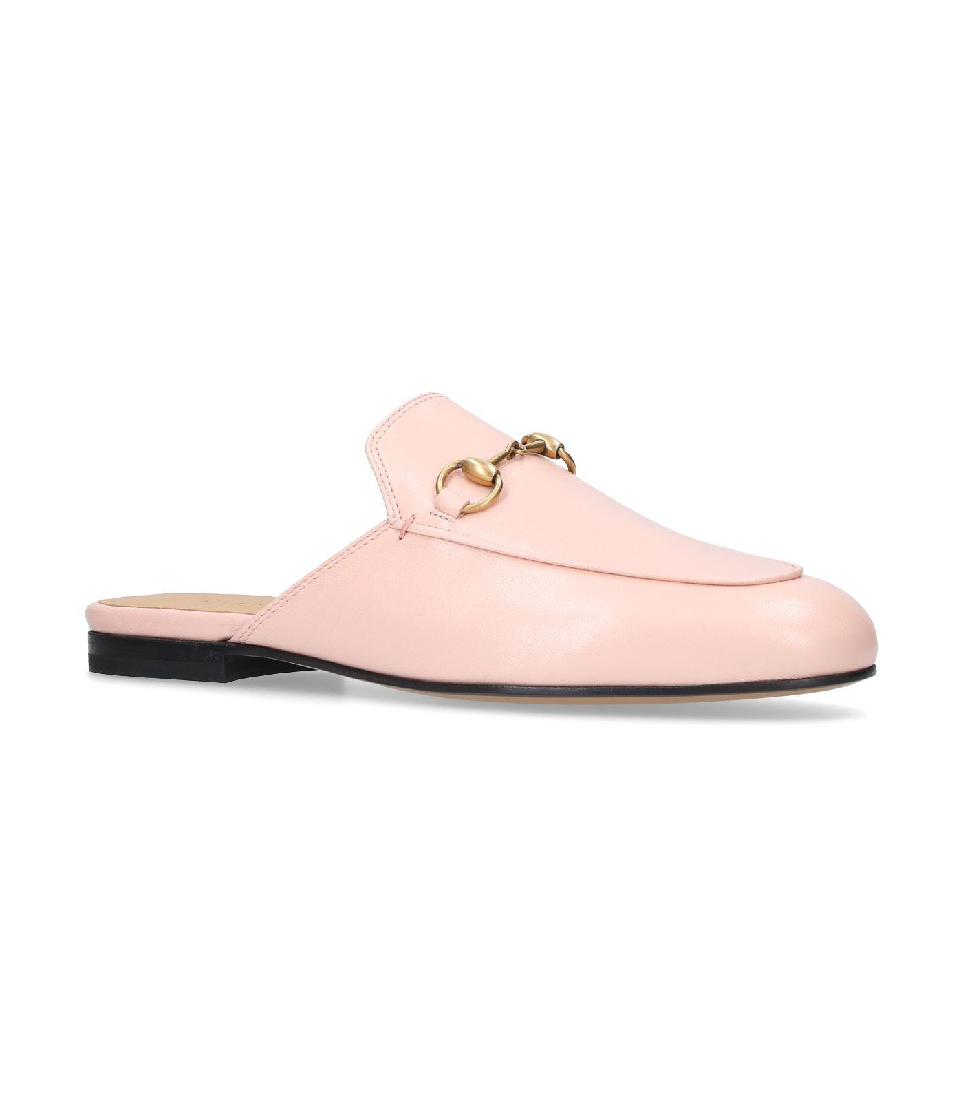 e98adad9049 Lyst - Gucci Princetown Leather Backless Loafers in Pink - Save 22%