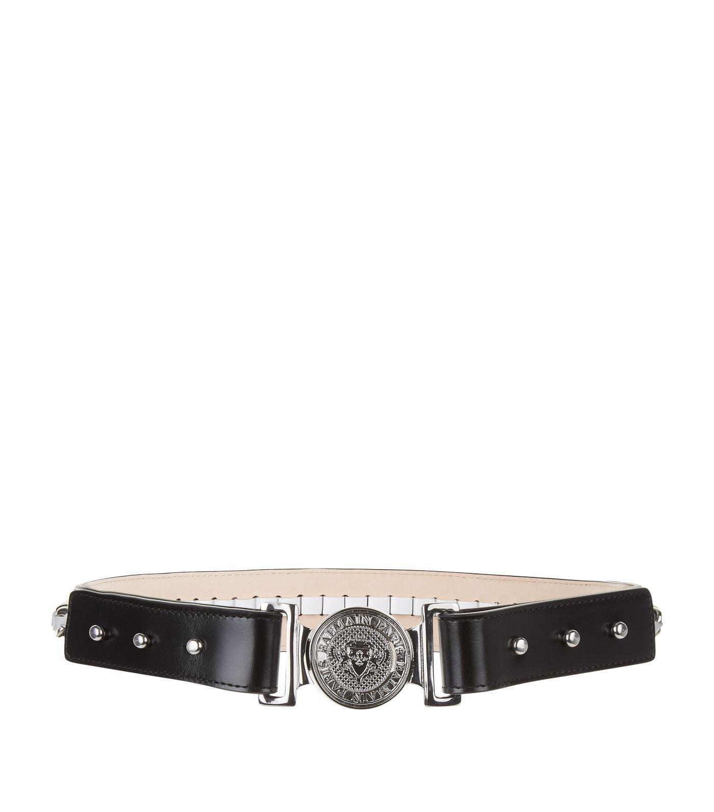 Black Logo Belt Balmain Mupvca