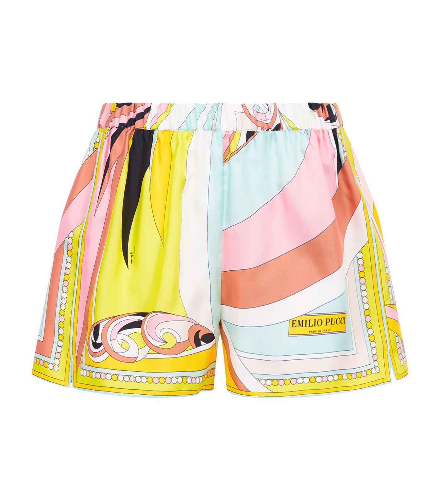 4542b8818978 Lyst - Emilio Pucci Silk Shorts