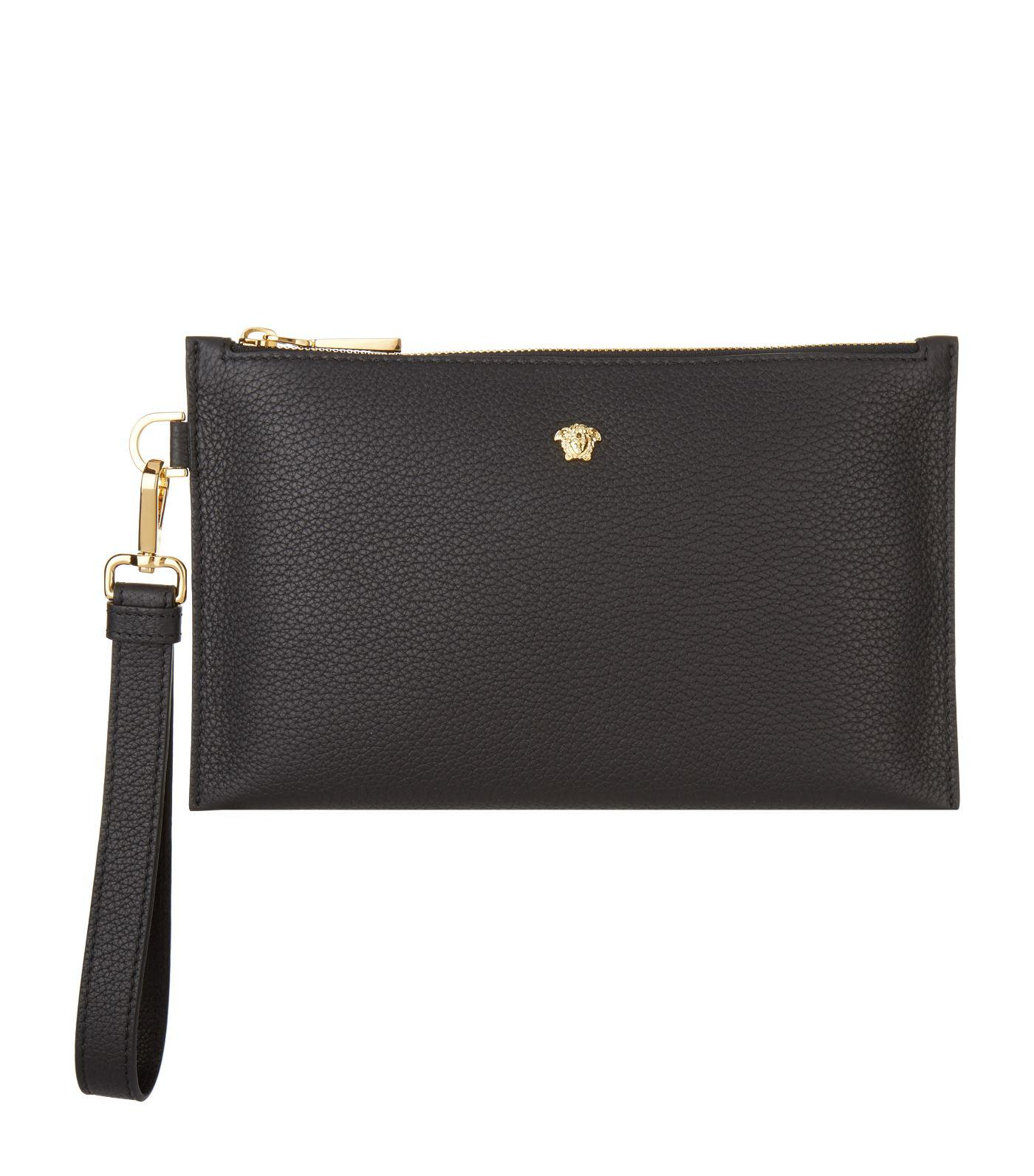 6e62d73b0acb Lyst - Versace Medusa Pouch in Black