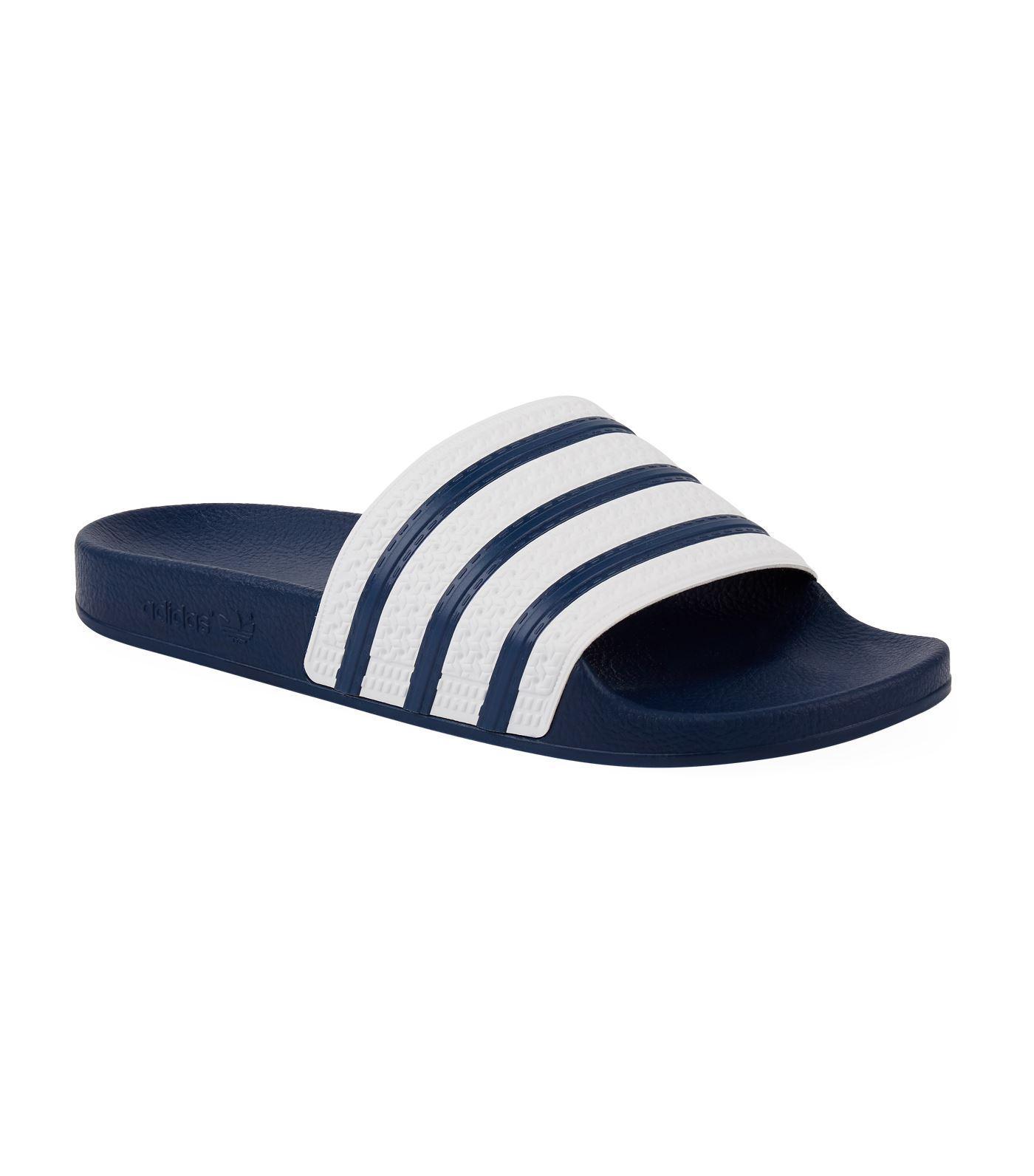 ead85ac20 Lyst - adidas Originals Adilette Slider Flip Flops G16220 in Blue ...