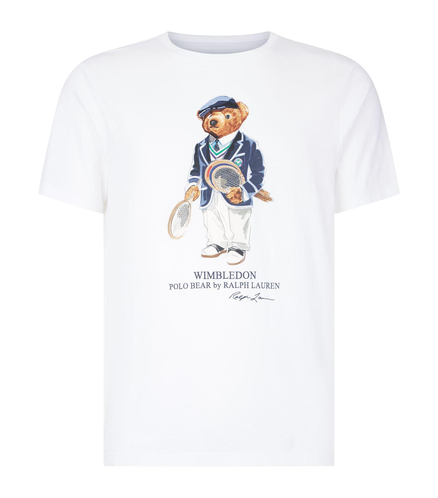 Polo Ralph Lauren Wimbledon Polo Bear T-shirt in White for Men - Lyst 61ae765e155