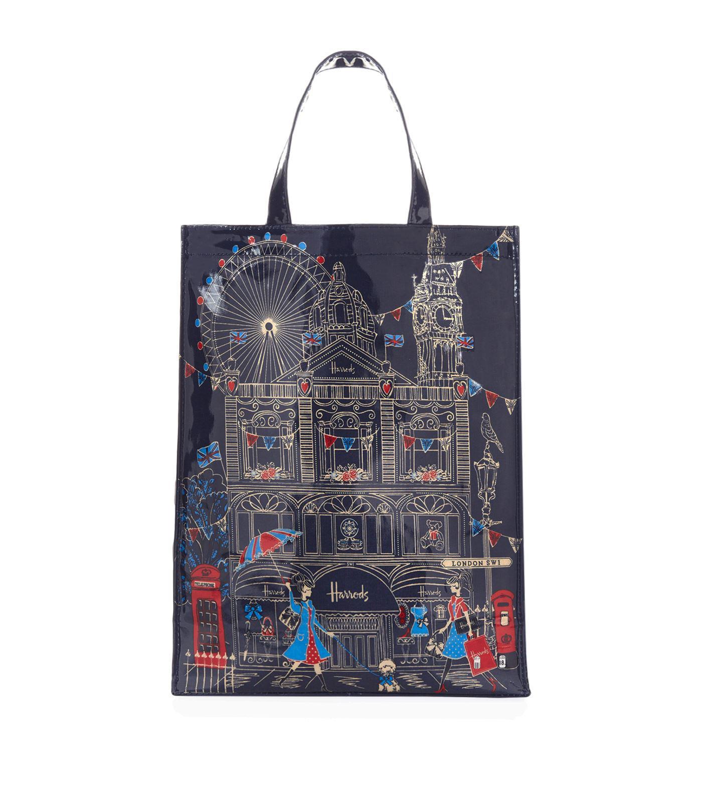 a6fadc6d016c7e Harrods Medium London Sw1 Shopper Bag in Blue - Save 16% - Lyst