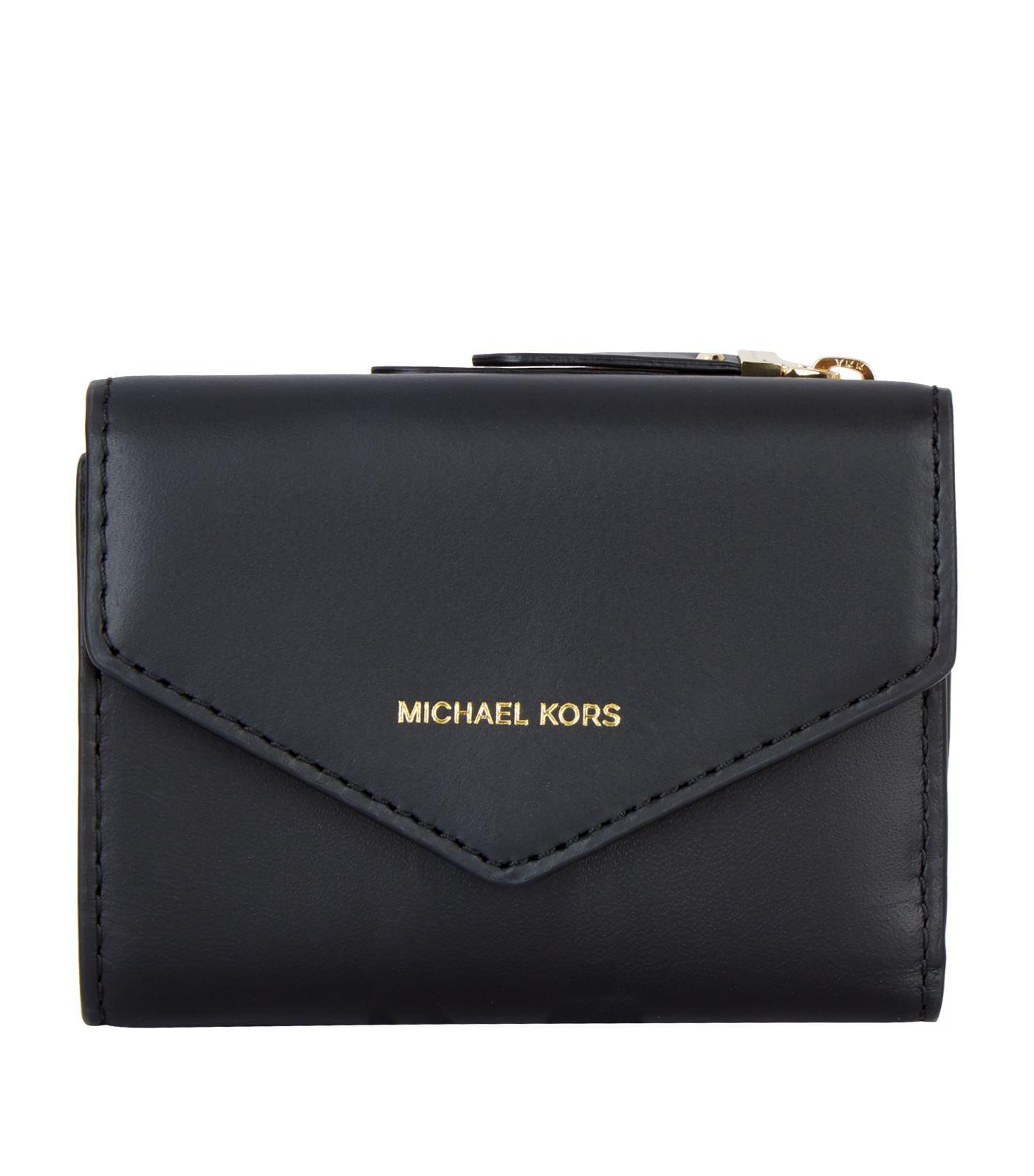 74abbce42aaec MICHAEL Michael Kors. Women s Black Small Leather Jet Set Envelope Wallet