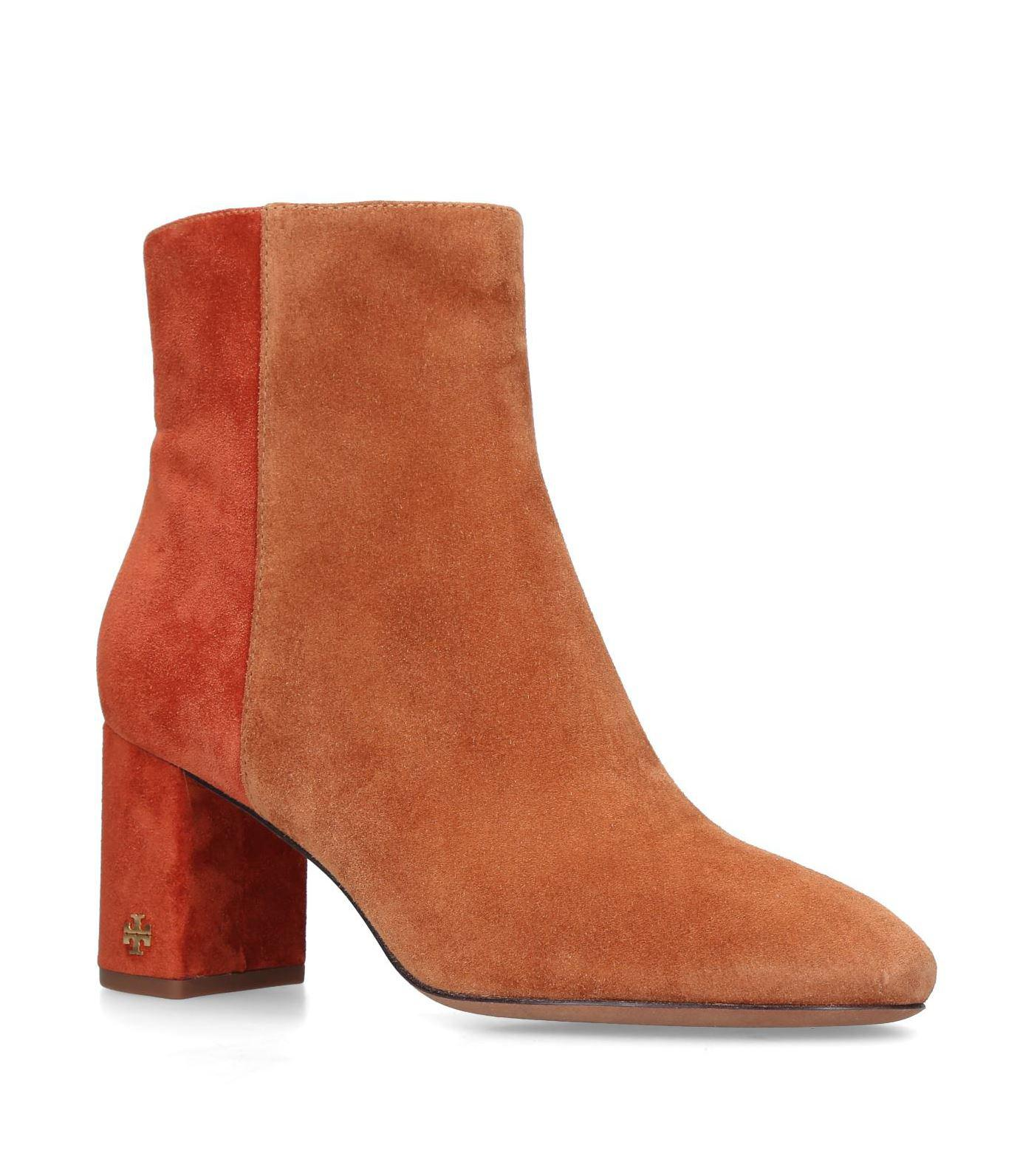 42de4c344 Lyst - Tory Burch Suede Brooke Ankle Boots 70 in Brown