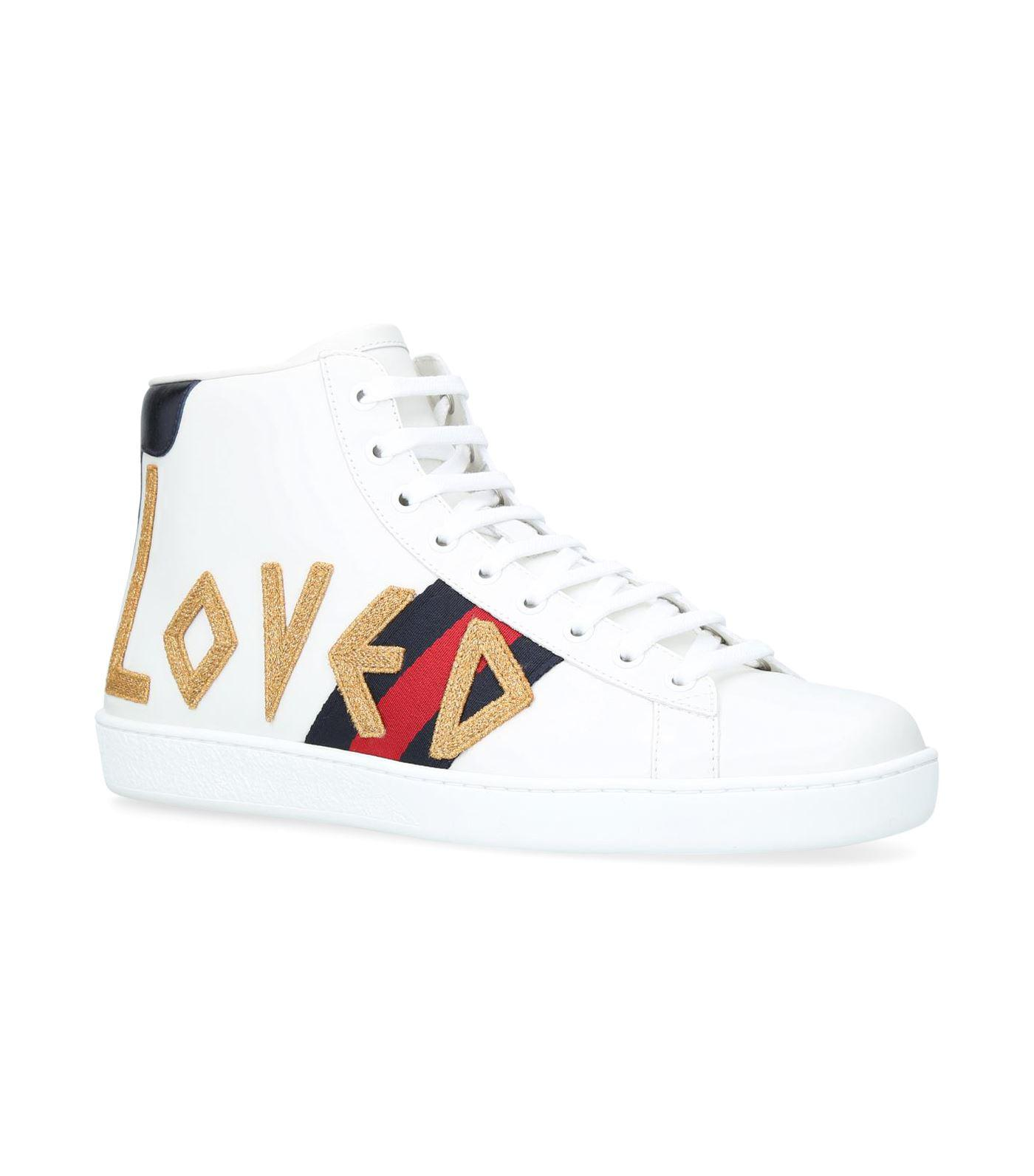 101203f88e3d3 Lyst - Gucci Loved New Ace High-top Sneakers in White for Men