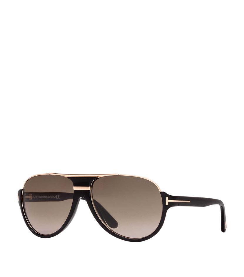 Tom Ford Pilot Sunglasses In Gray For Men Lyst