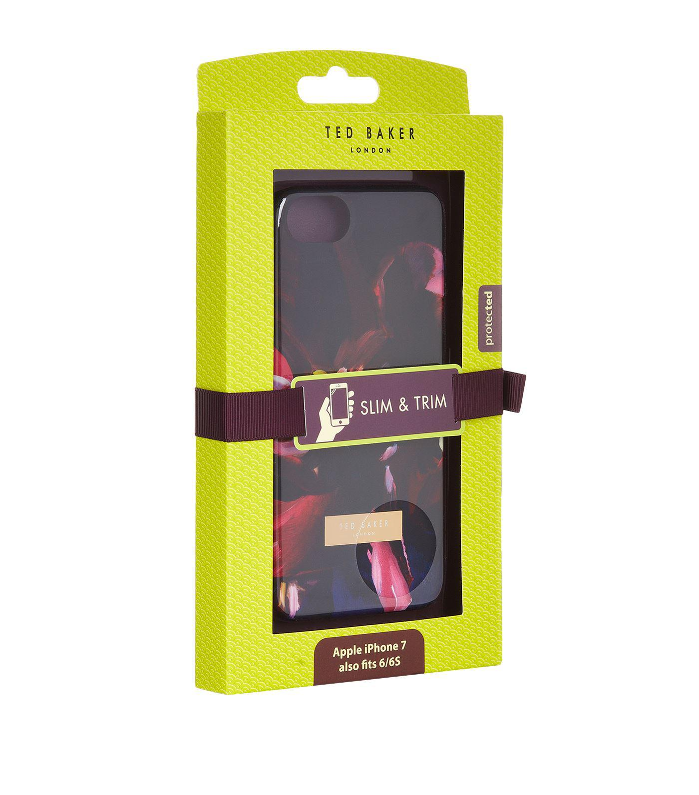 dd9ca8b3aeedcf Lyst - Ted Baker Loliva Impressionist Bloom Iphone Case in Black