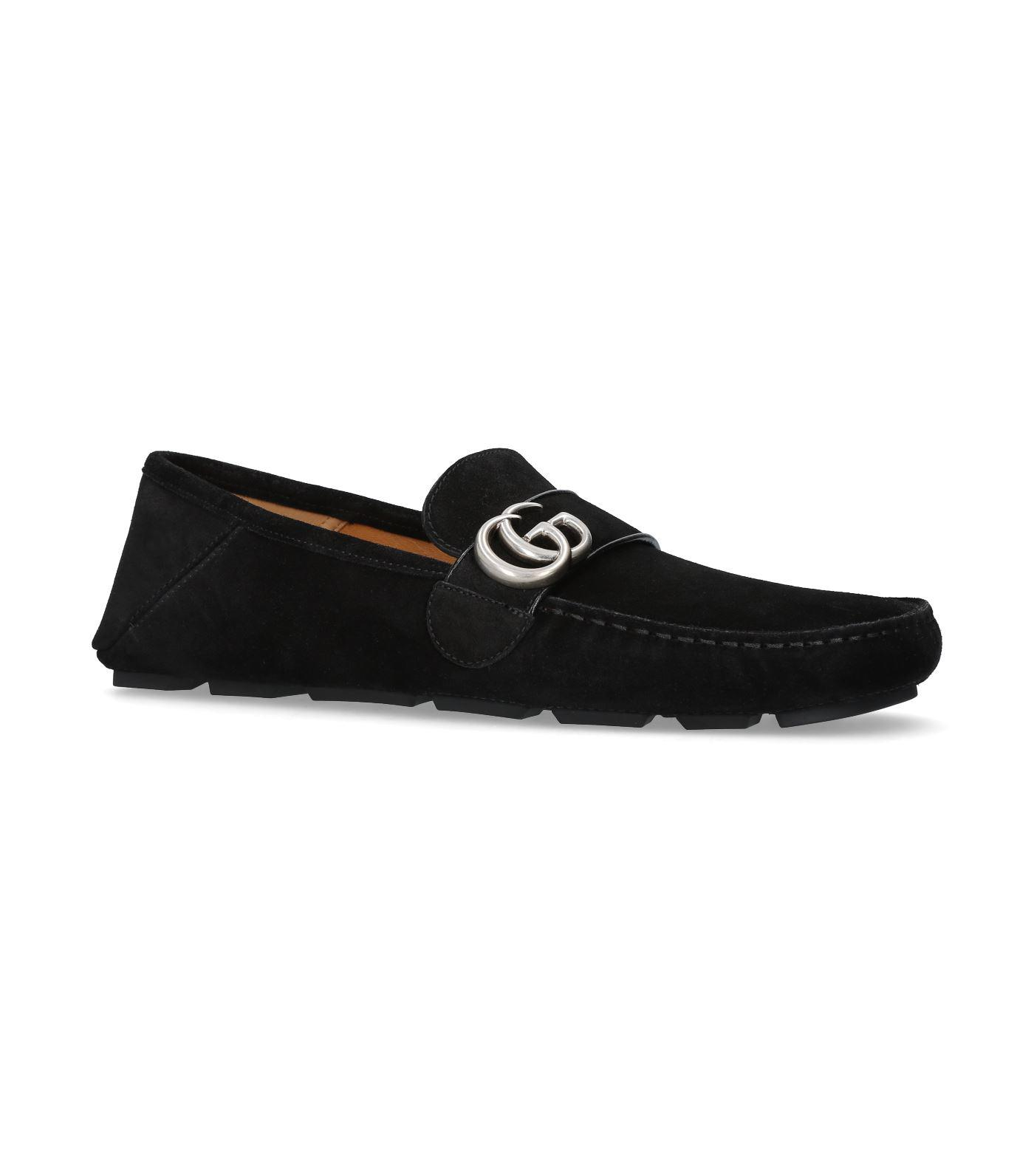 Gucci  Men's Black Noel Suede Driving Loafers