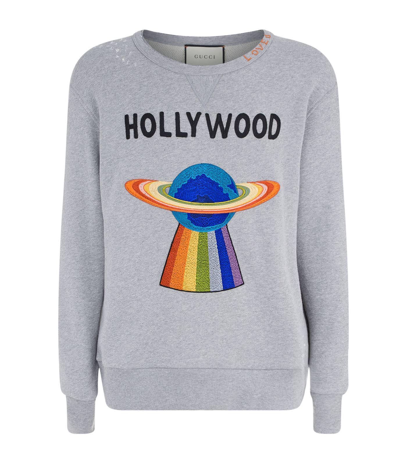 0f444f7a Gucci Hollywood Ufo Motif Sweatshirt in Gray for Men - Lyst