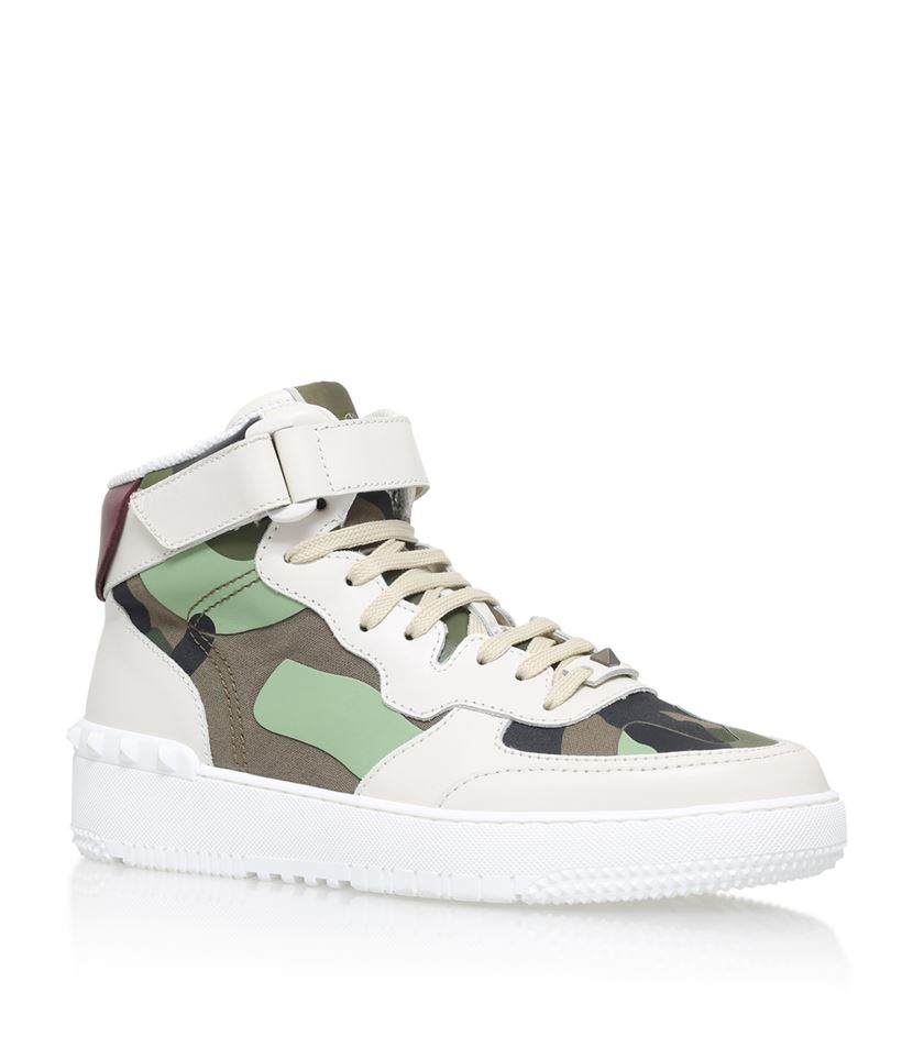 ValentinoLeather High Trainers c1iu2tr