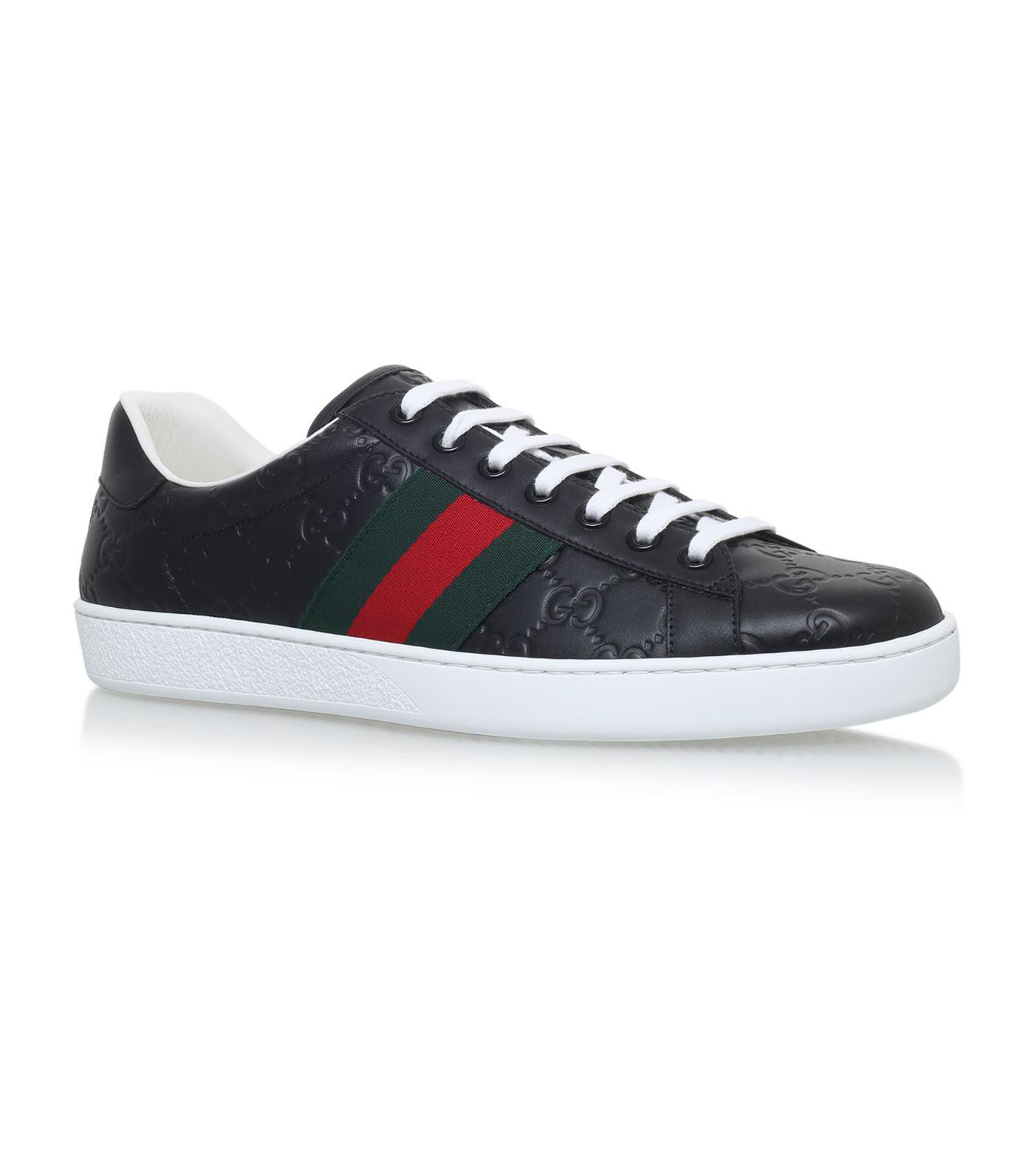 3dff3973014 Gucci - Blue New Ace Logo Sneakers for Men - Lyst. View fullscreen