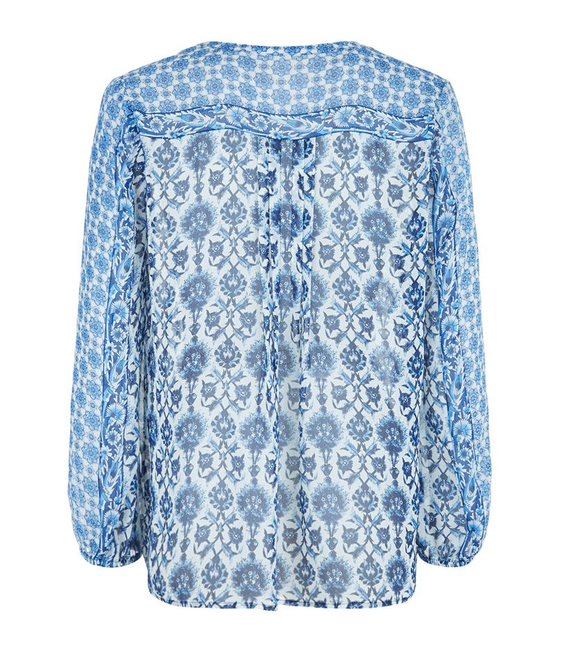 Joie Blue Silk Blouse 113